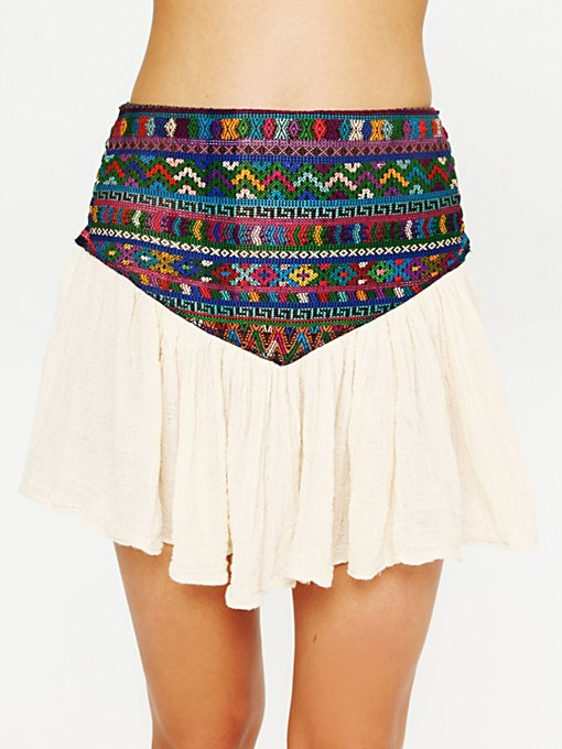 Guipil Asteria Mini Skirt