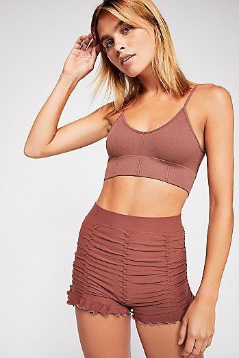 Ruched Seamless Shorts