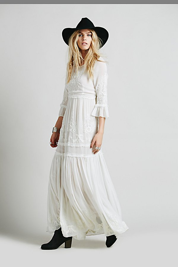 Dresses White Romance Embroidered Maxi Tap On Image To Zoom
