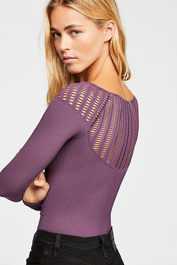Slide View 3: Cut Out Neck Long Sleeve Top