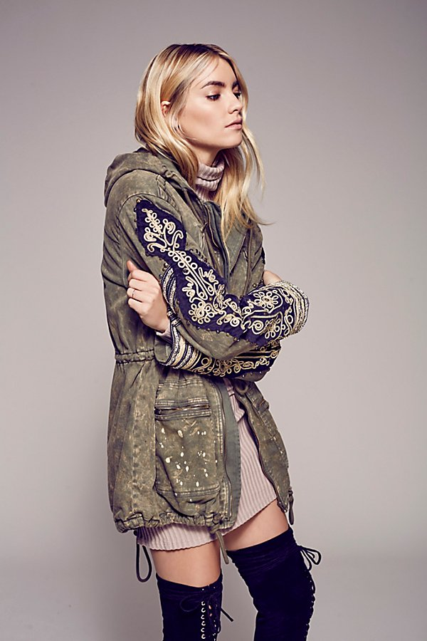 Golden Quills Military Parka by Free People