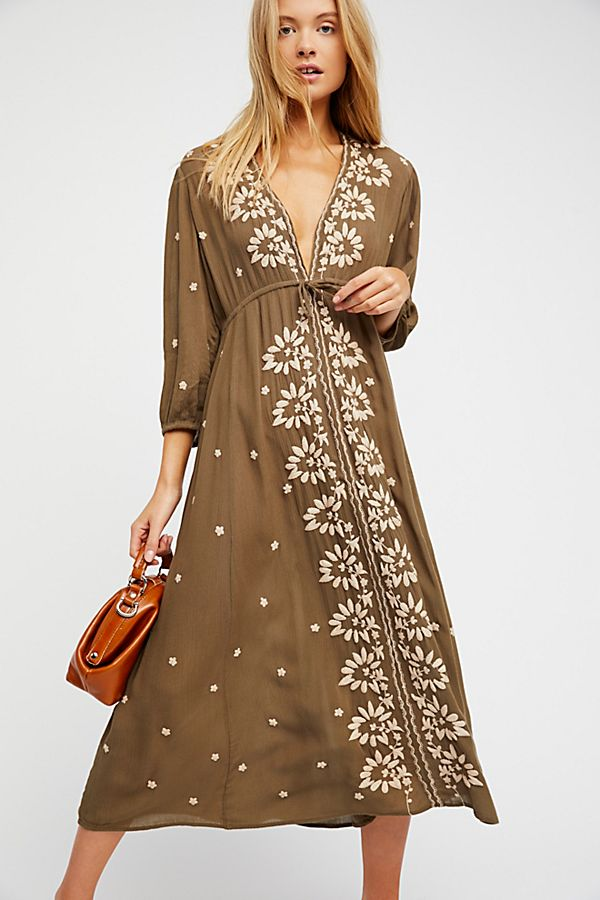 Embroidered Fable Dress Free People Uk