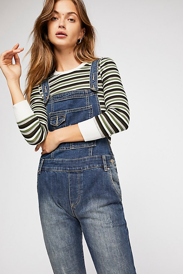 Slide View 3: Washed Denim Overall