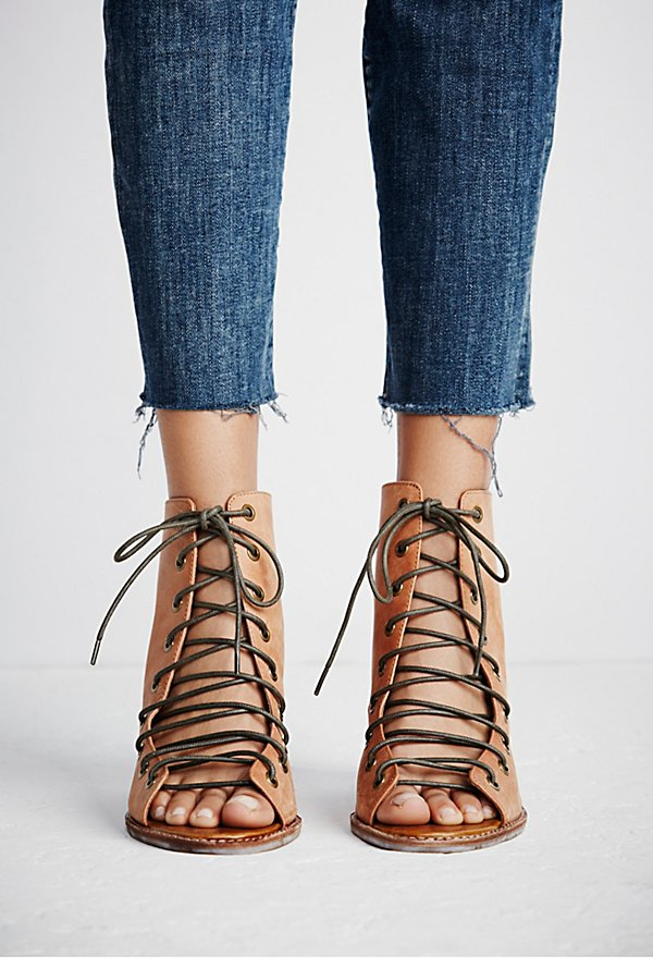 Slide View 3: Minimal Lace Up Heel