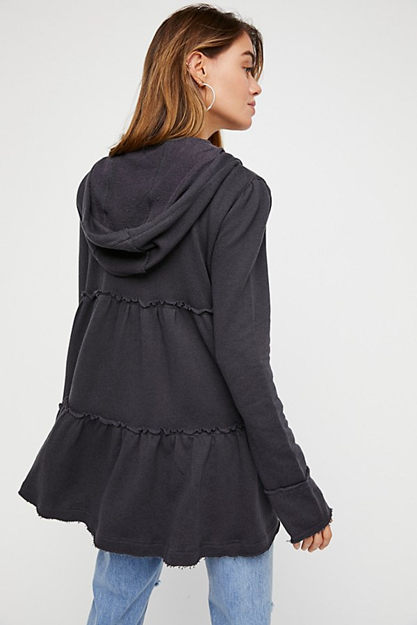 Slide View 2: Tiered Trapeze Zip Sweatshirt