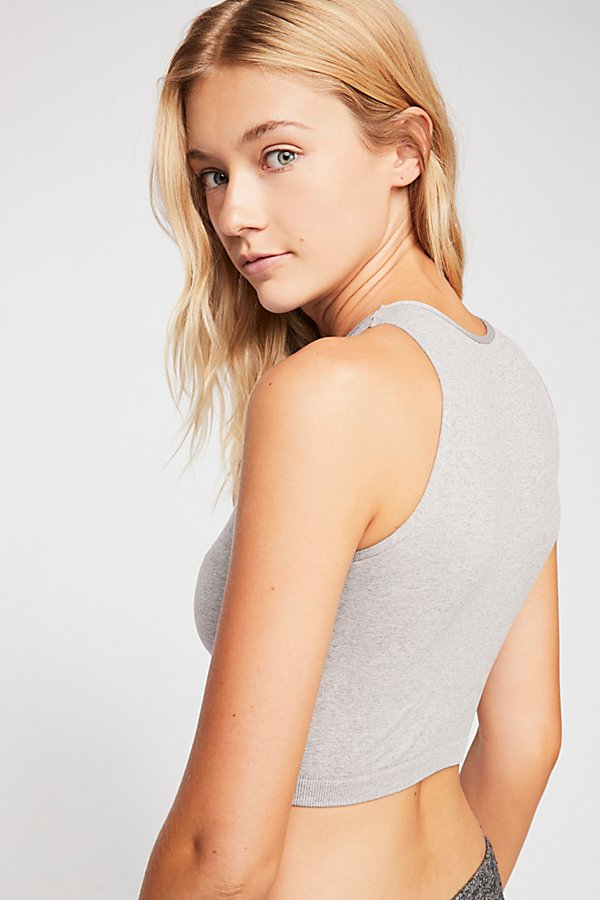 Slide View 3: High Neck Seamless Crop