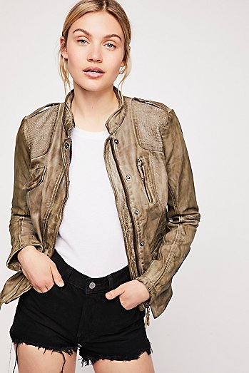 Rumpled Leather Blazer