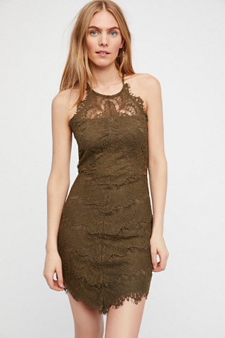 Brown Cocktail Dress