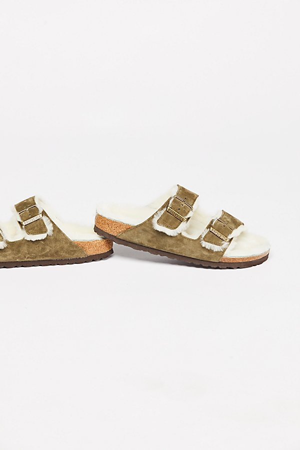 Slide View 4: Arizona Shearling Birkenstock Sandal