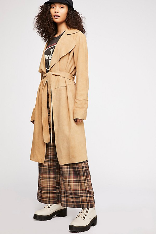 Slide View 1: Suede Trench