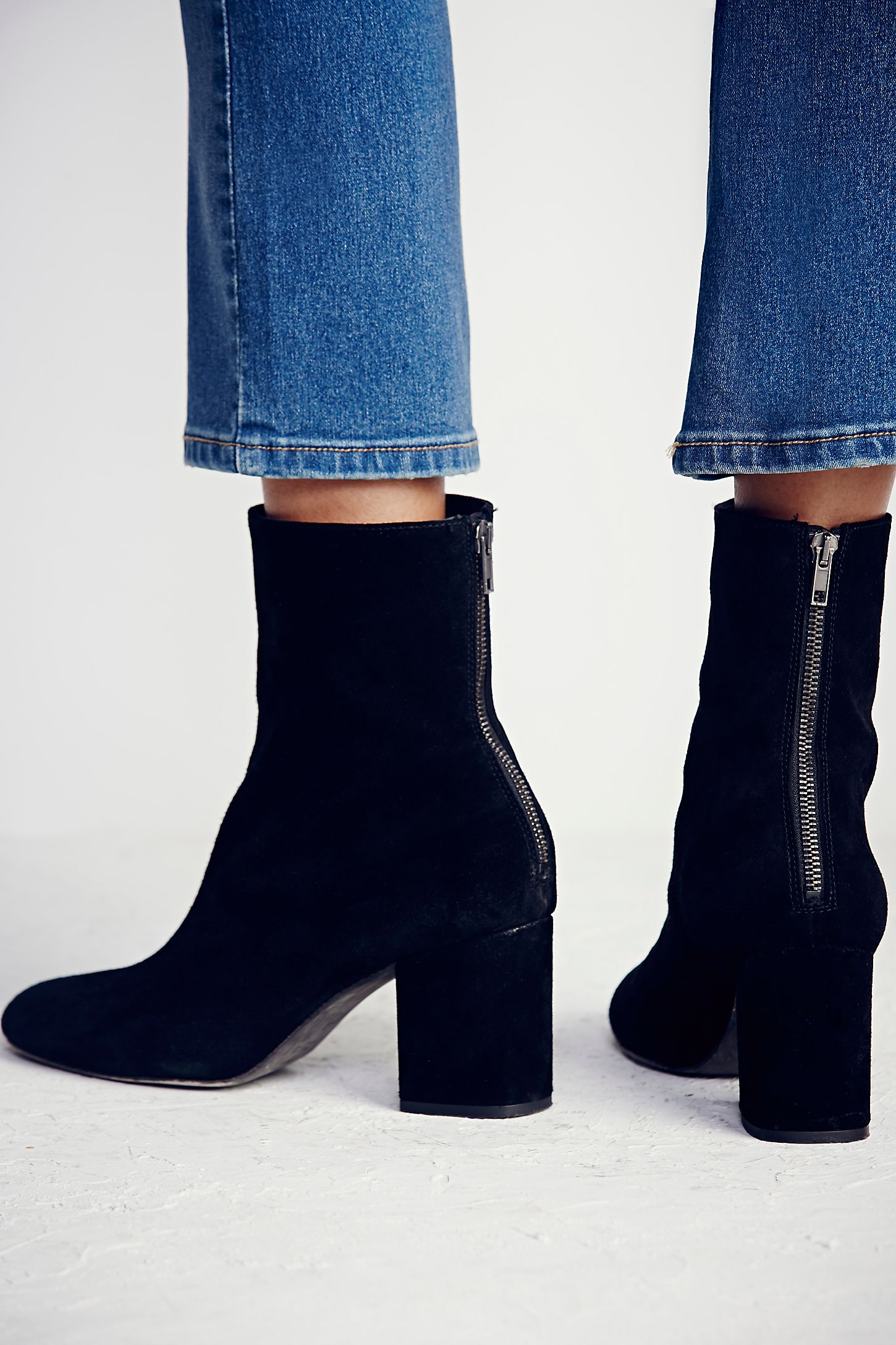 zip most block black comfortable ankle chunky shoes boots tassel comforter leather heels heel itm size faux chelsea womens