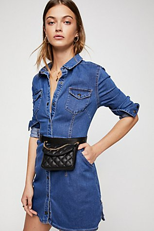 denim dress with sneakers