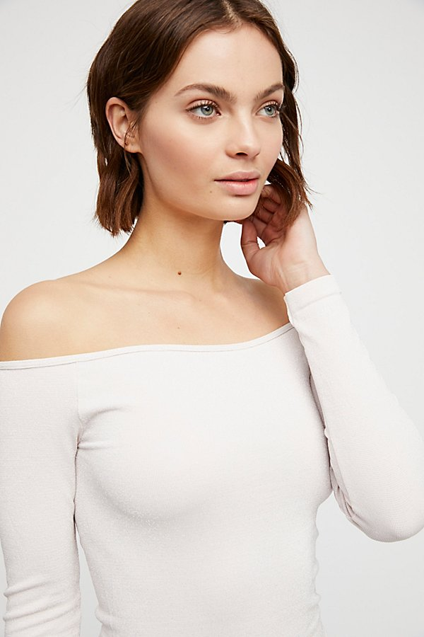 Slide View 1: Off -The-Shoulder Solid Top
