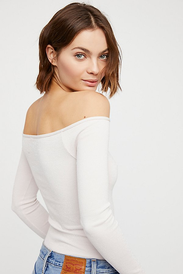 Slide View 3: Off -The-Shoulder Solid Top
