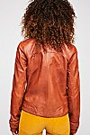 Thumbnail View 3: Washed Leather Moto Jacket