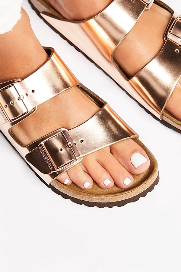 Slide View 3: Arizona Metallic Birkenstock Sandal
