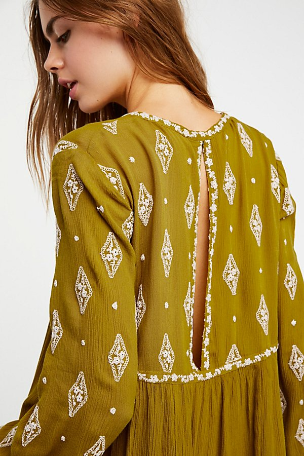 Slide View 4: Diamond Embroidered Top
