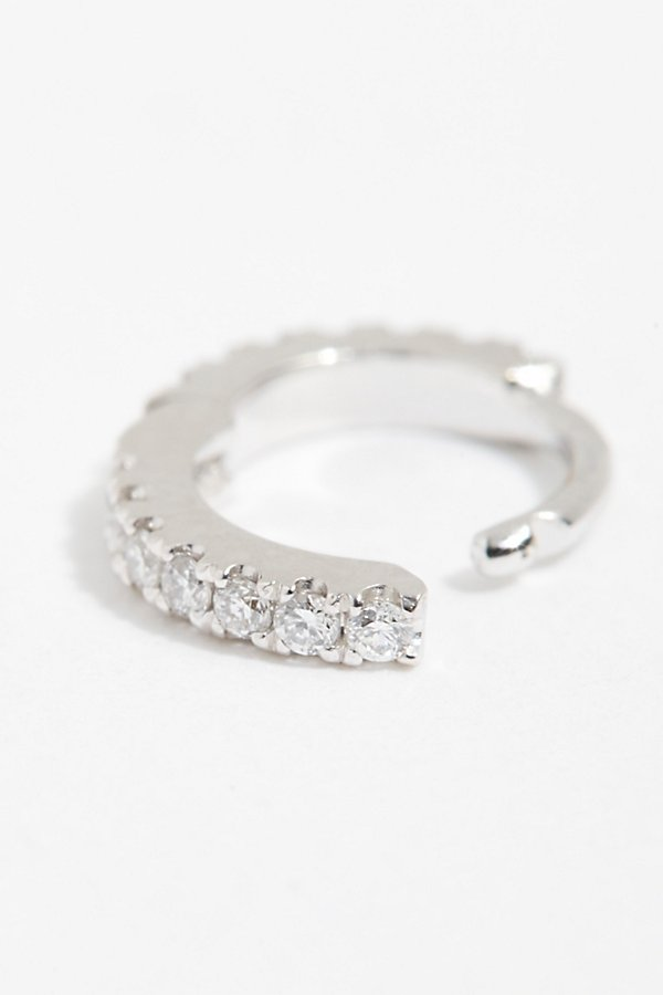 Slide View 2: 18K Diamond Helix Hoop Earring