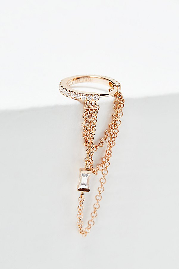Slide View 1: Diamond Eternity Baguette Chain Hoop