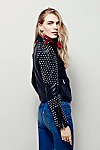 Thumbnail View 4: Doma Studded Biker Jacket