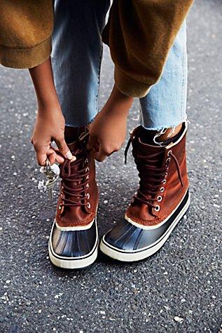 sorel 1964 Premium Leather Lace-Up Boots