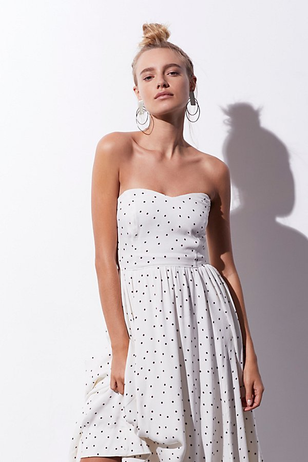 Slide View 1: Bella Donna Polka Dot Midi Dress