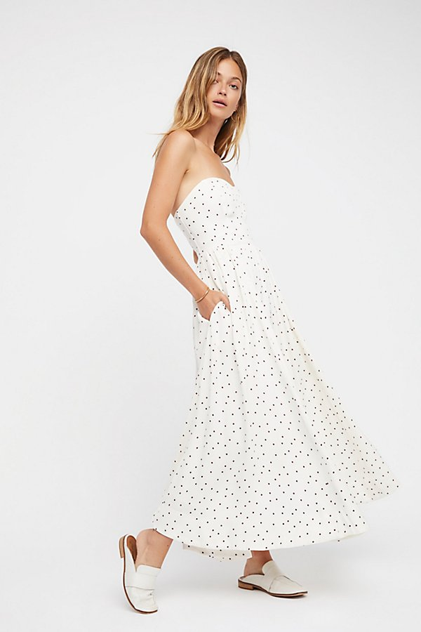 Slide View 3: Bella Donna Polka Dot Midi Dress