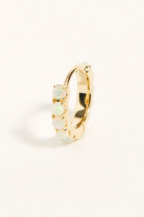 Slide View 1: Opal Eternity Hoop Earring
