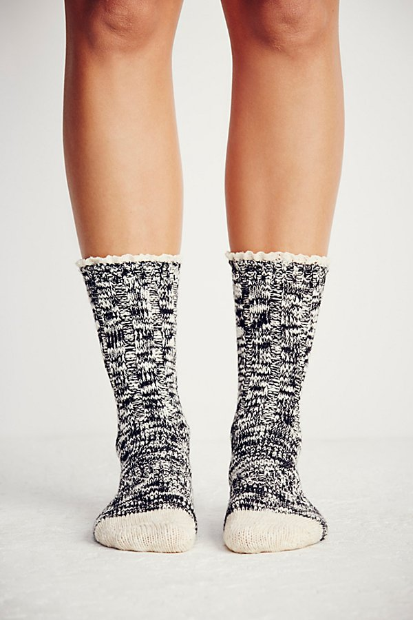 Slide View 4: Melbourne Heathered Crew Socks