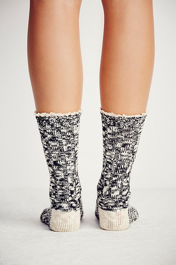 Slide View 5: Melbourne Heathered Crew Socks