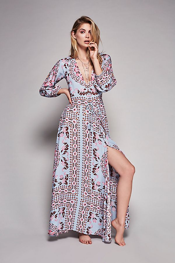 Pandora Printed Gown | Free People