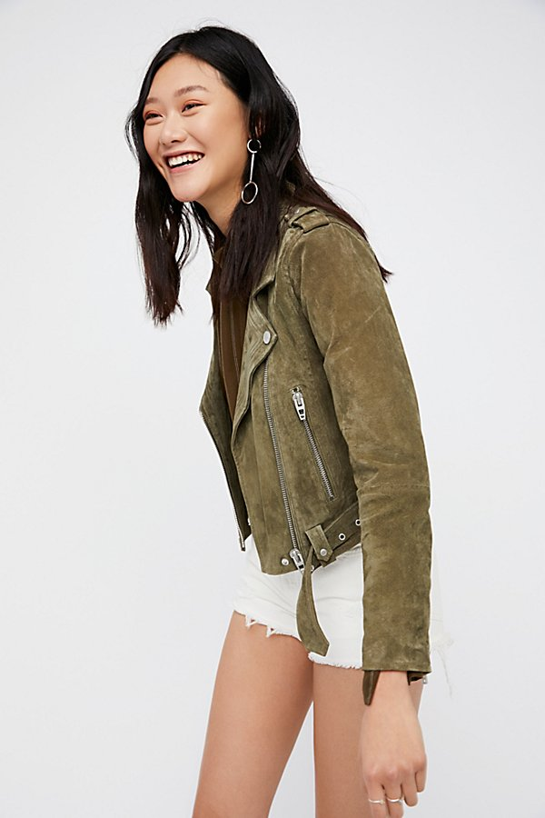 Slide View 1: Suede Moto Jacket