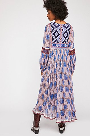 Bold Blooms Embroidered Dress Free People Uk
