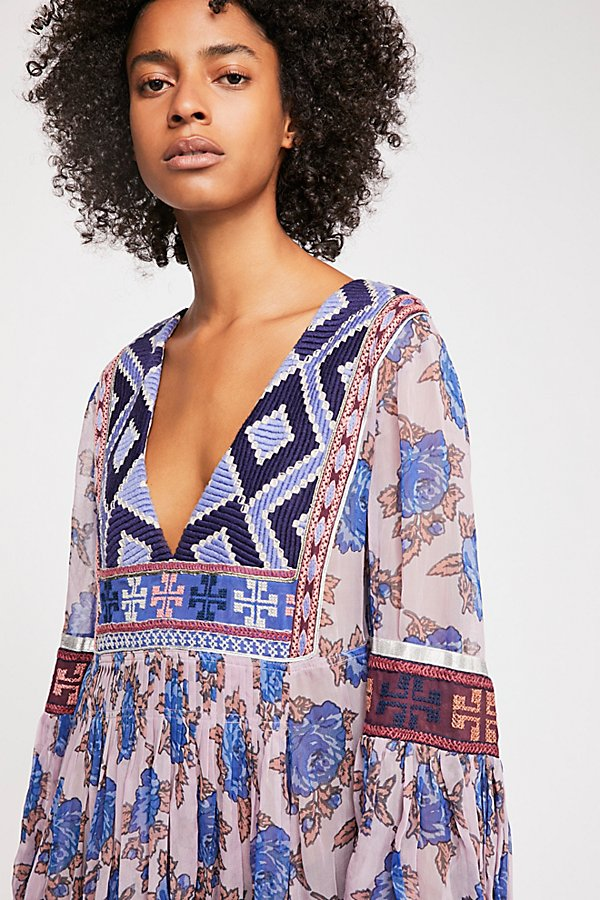 Slide View 3: Bold Blooms Embroidered Dress