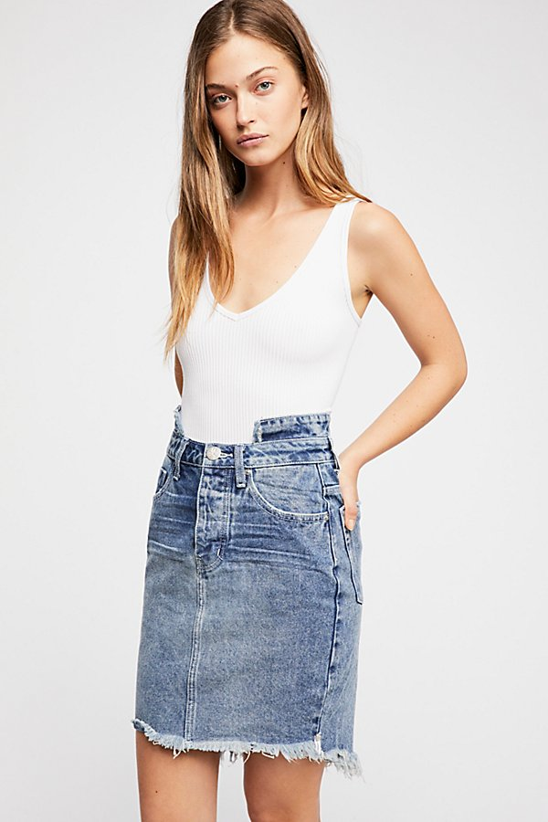 Slide View 1: OneTeaspoon 2020 Denim Pencil Skirt