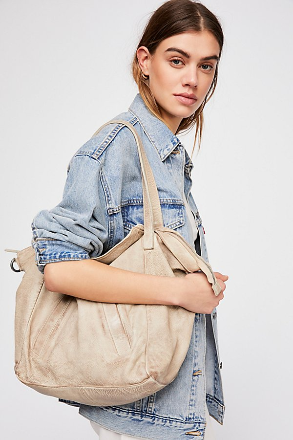 Slide View 1: Lucca Washed Leather Tote