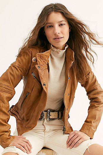Fitted and Rugged Leather Jacket