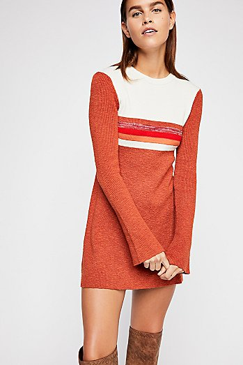 Colorblock Swit Mini Dress