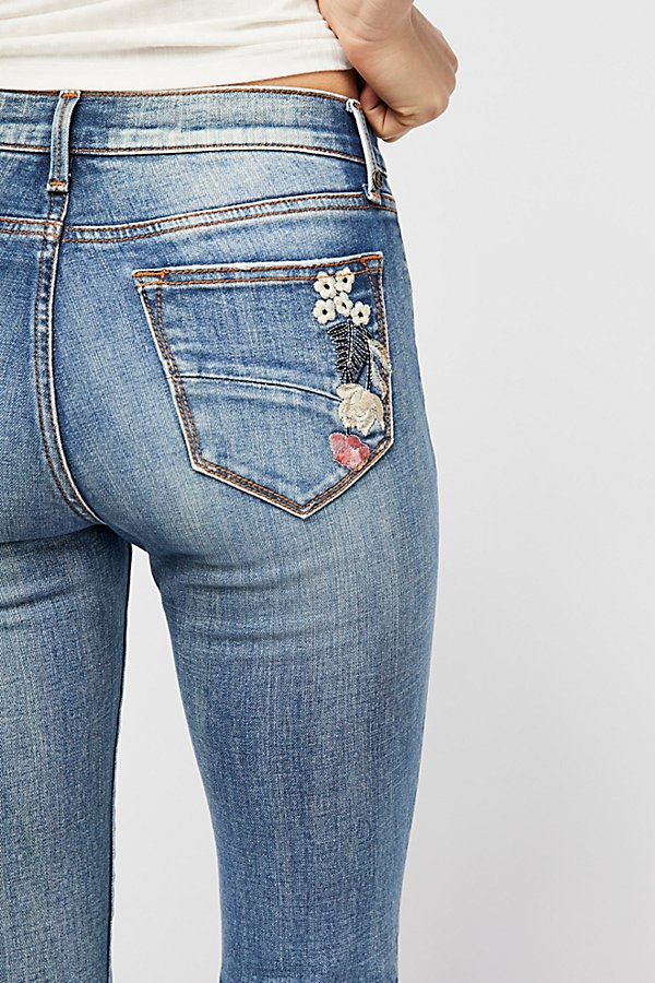 Slide View 4: Driftwood Farrah Embroidered Flare Jeans