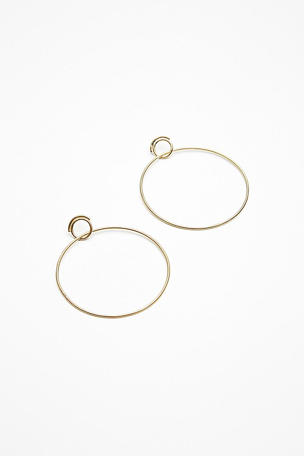 Slide View 1: Double Trouble Hoop Earrings