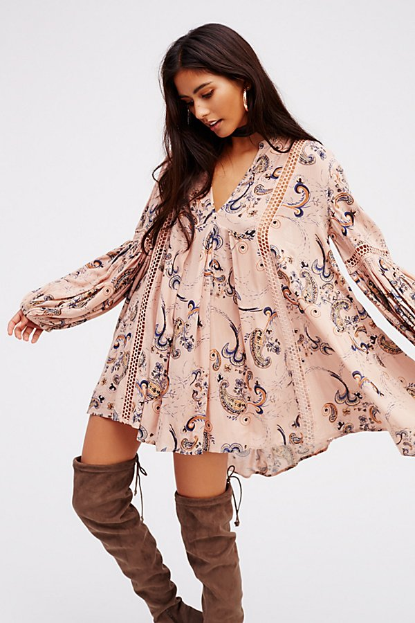 Just The Two Of Us Paisley Printed Tunic by Free People