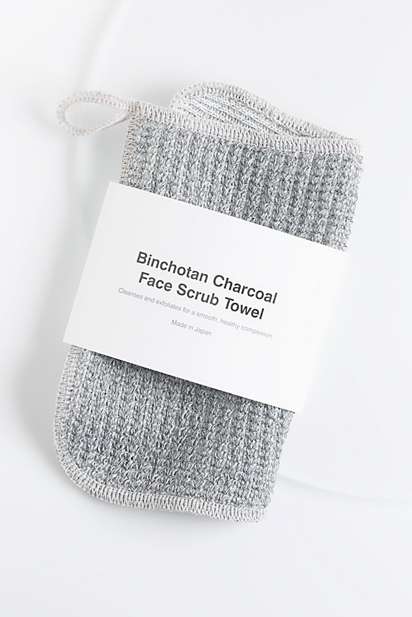 Slide View 1: Morihata Binchotan Charcoal Face Scrub Towel