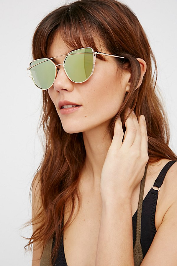 Slide View 1: Forget Me Not Aviator Sunglasses
