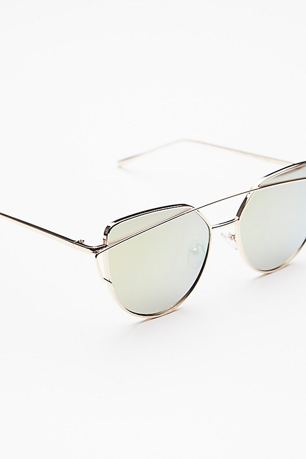 Slide View 3: Forget Me Not Aviator Sunglasses