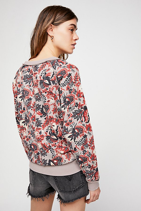 Slide View 2: Go On Get Floral Pullover