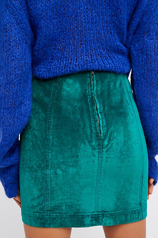 Slide View 2: Modern Femme Velvet Mini Skirt