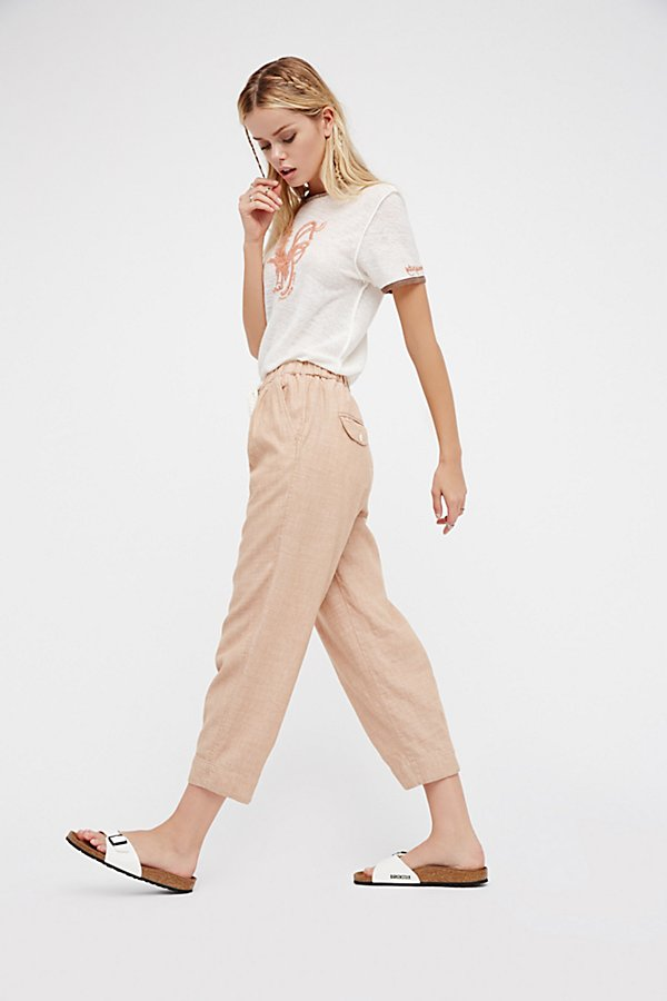 Slide View 5: Everyday Chambray Pull-On Trousers