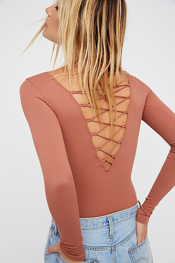Slide View 1: All Laced-Up Long Sleeve Layering Top