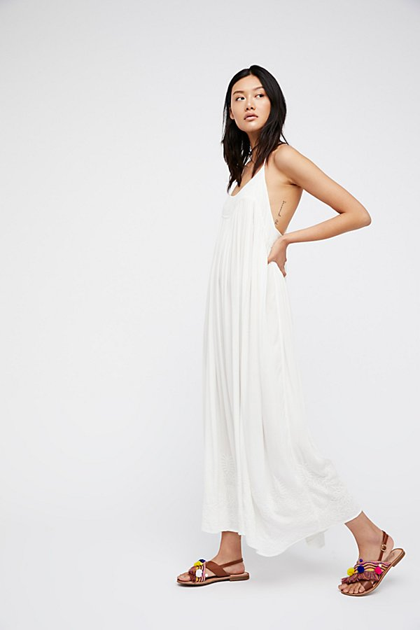 Slide View 1: Embroidered Elaine Maxi Slip