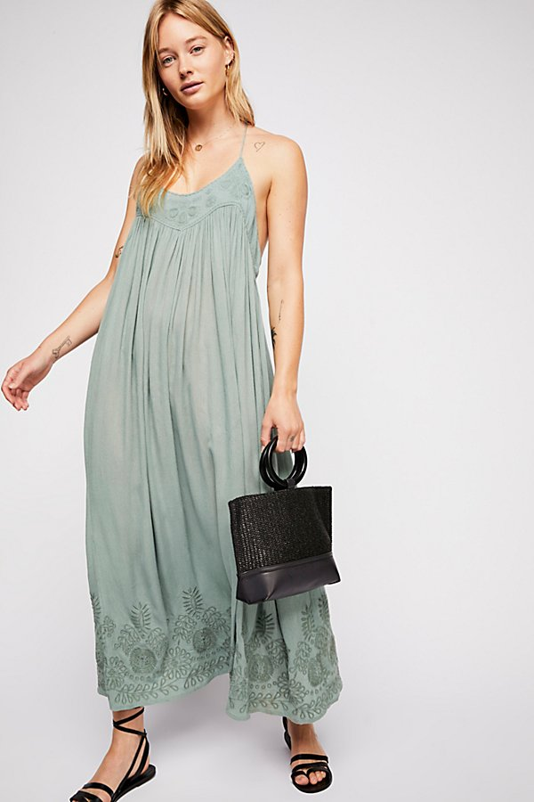 Slide View 4: Embroidered Elaine Maxi Slip